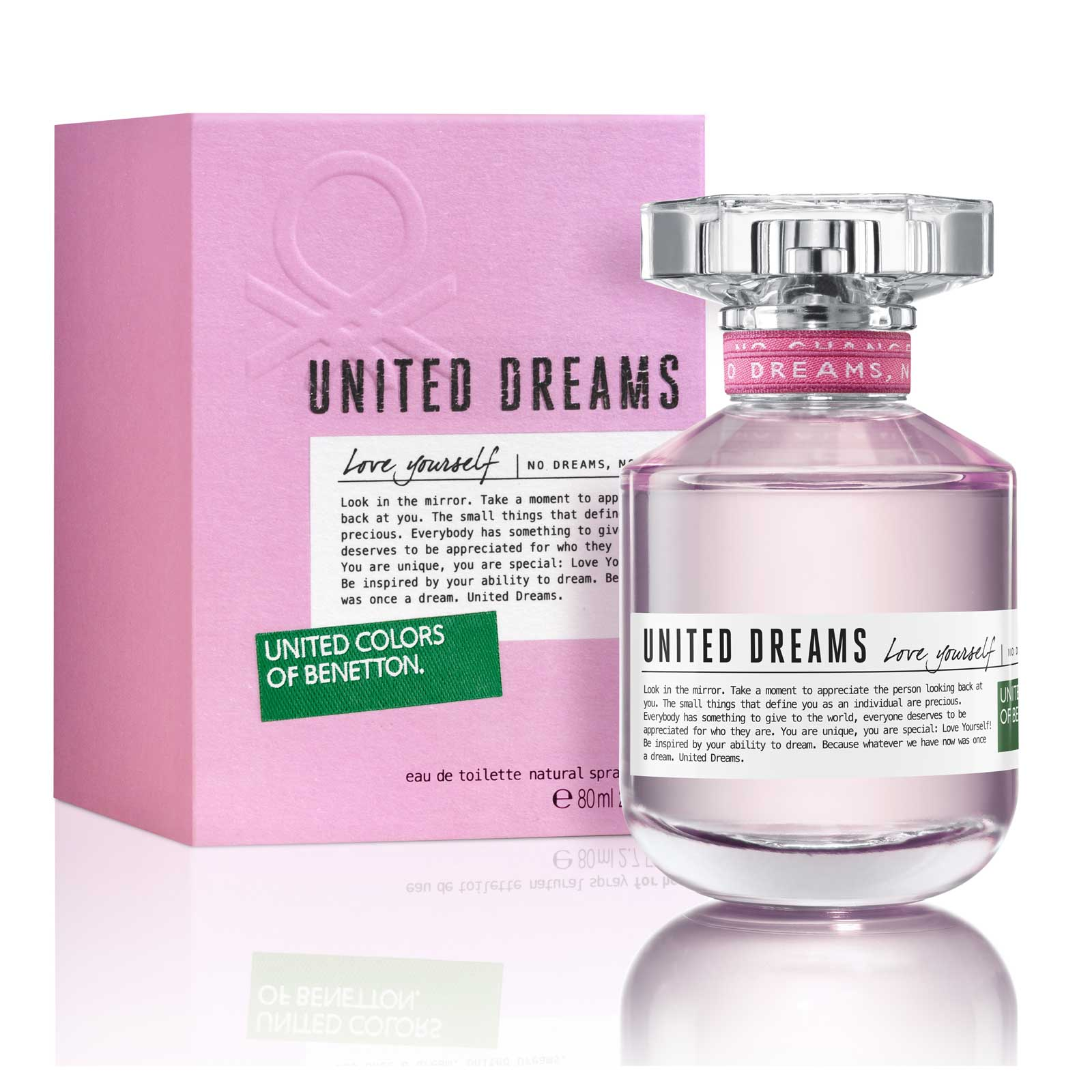 Perfume United Dreams Love Yourself Benetton Feminino Eau de Toilette 80ml