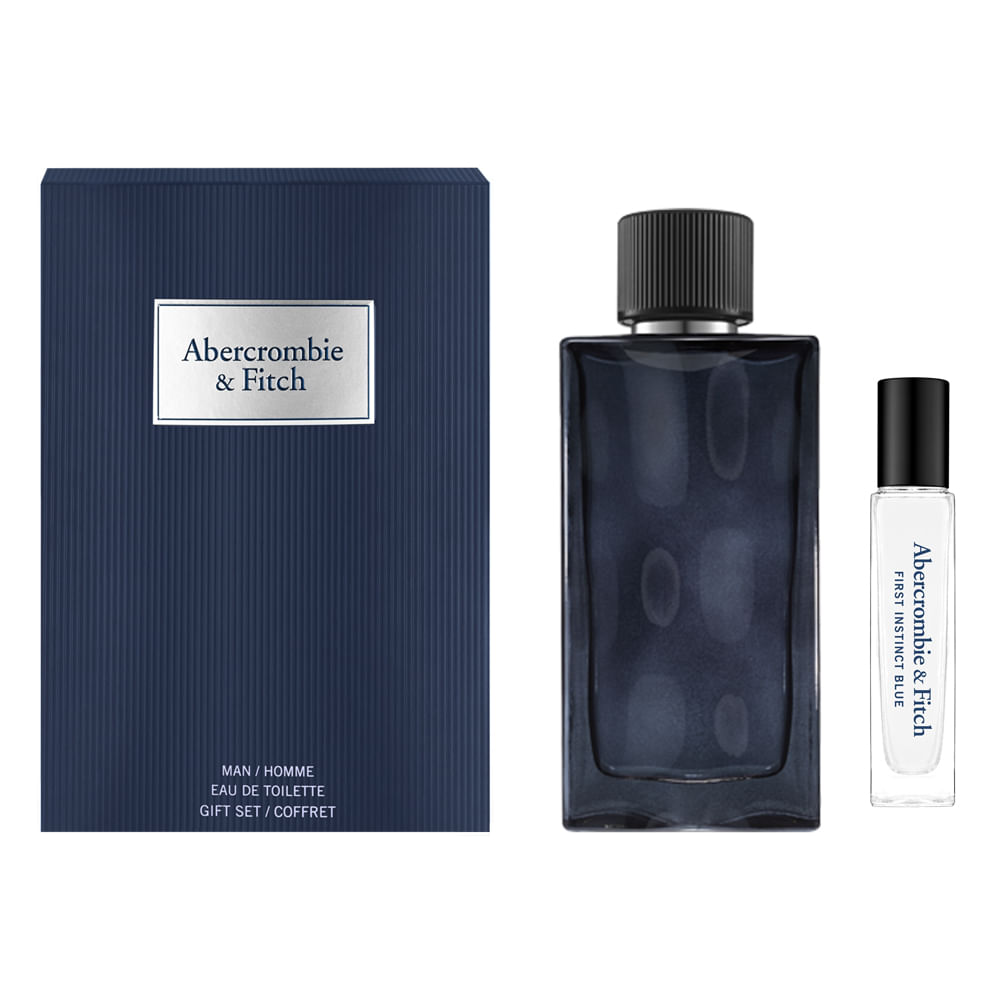 Kit Abercrombie & Fitch Perfume Instinct Men Blue Eau de Toilette 100ml + Travel Size 15ml
